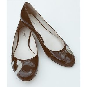 Coach Kora Crinkle Patent Leather Ballet Flats